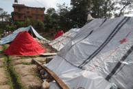 Tents in Lalitpur, Nepal after the recent earthquakes. Photo: Lorenz Von Seidlein (2015).