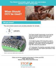OCV World Immunization Week Graphic 2. Source: Piktochart, created by Christina Shaw, 2017